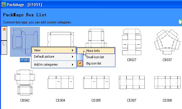 Box template information - Packmage - Web-to-Pack - Web-to-Print