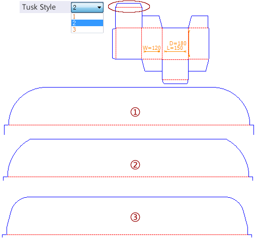 Drop down options - Tuck Style